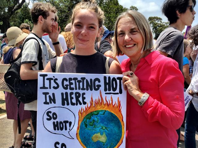 Lee Rhiannon at a climate rally